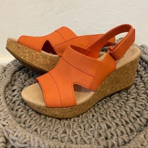 Clark's Coral Wedge Sandals